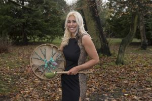 Claire Stone with Shamanic Drum